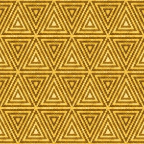 Mustard Yellow Distressed Triangles