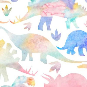 Dinosaurs - muted warm colours - large scale