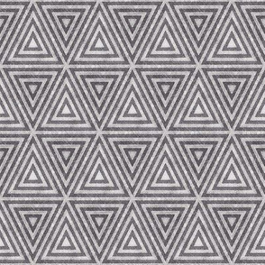 Neutral Grey Brown Distressed Triangles
