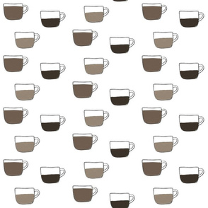 Filled Coffee Cups