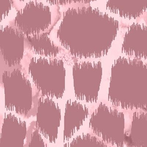 Giraffe skin ikat with watercolor texture