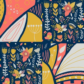 Coral Limited Palette Patchwork