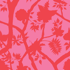 Silhouette Peony Branch Valentine