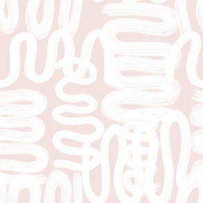 squiggle white on petal pink