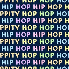 HIP HOP - easter - multi on navy - LAD19
