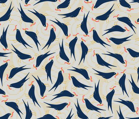 Earlybirds fabric by melhales on Spoonflower - custom fabric