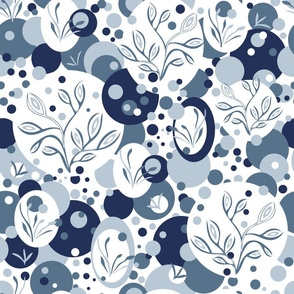 Blue Almond Flowers-large scale