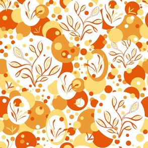 Orange Almond Flowers-large scale