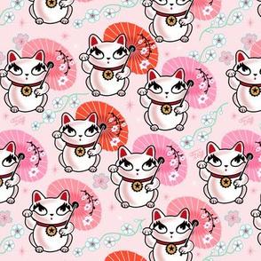 MEDIUM - Kyoto Kitty - Maneki Neko -on Pink