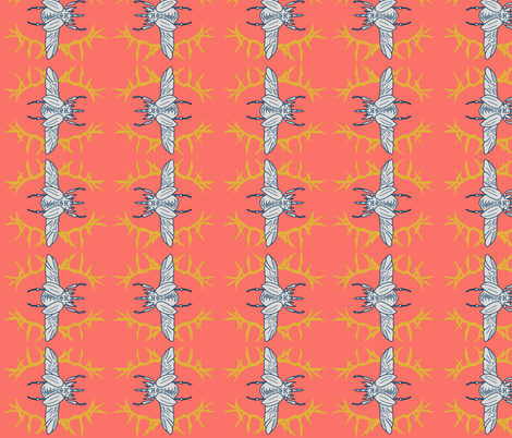 Coral Beetles fabric by anobledesigner on Spoonflower - custom fabric