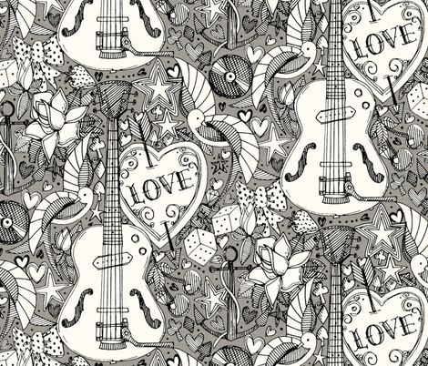 Rockabilly Doodle Iron Wallpaper Designed By Scrummy