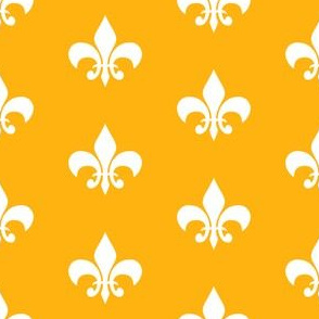 purple and gold fleur de lis fabric, lsu, louisiana fabric - gold and white