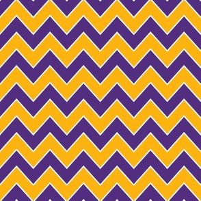 purple and gold chevron  - lsu, louisiana fabric, sports fabric