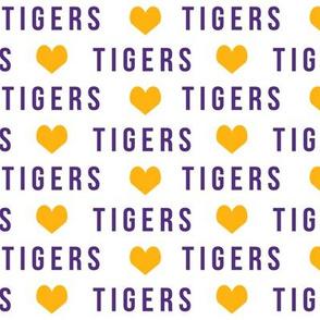 tigers hearts - go team fabric, lsu, louisiana fabric
