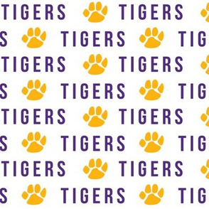 tigers fabric - go tigers fabric, sports fabric, purple and gold, sports team fabric, lsu, louisiana