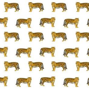 yellow tigers fabric -  lsu, louisiana, yellow tigers walking, fabric