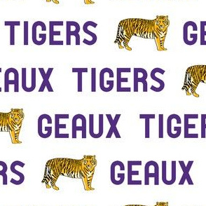 geaux tigers fabric - louisiana fan fabric, Louisiana fabric, tigers fabric, purple and gold fabric