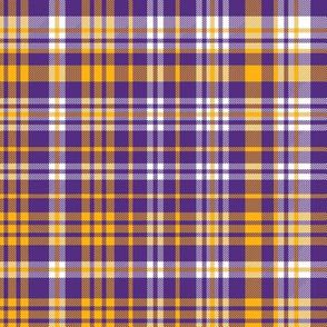 purple and gold plaid - lsu, sports, fan fabric, plaid fabric, sports fan fabric, louisiana fabric