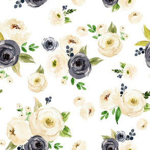 Ivory Gray Floral