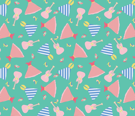 1950'S FASHIION SHOWER fabric by caroline_lister_designs on Spoonflower - custom fabric
