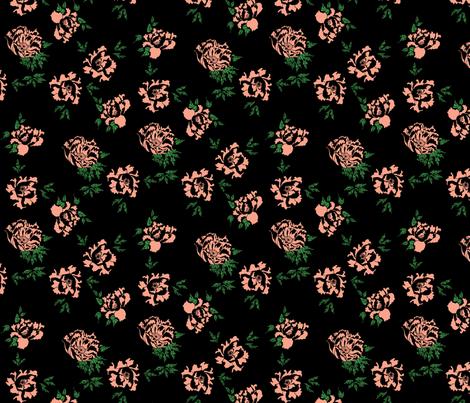 Little peony fabric by ertus on Spoonflower - custom fabric