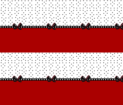 polka stripes and bows - rockabilly red MED585 fabric by drapestudio on Spoonflower - custom fabric