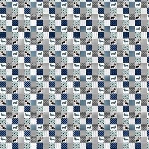 TINY - tri corgi dog fabric - pet quilt a dog, dogs, pet quilt patchwork