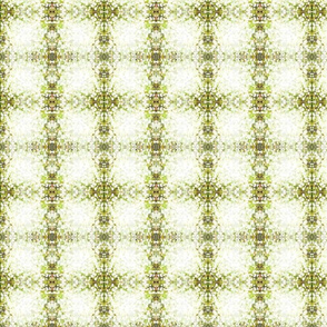 green pillow cover or plaid