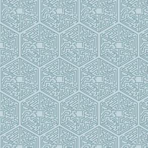 Hexagon Teal on Teal