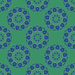 Abstract Petal Flowers Seamless Vector Pattern Sun Star