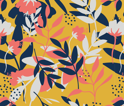 Flowers fabric by kat-designs on Spoonflower - custom fabric
