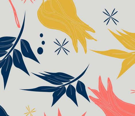 Warm Tulips fabric by dreambigdigitaldesign on Spoonflower - custom fabric