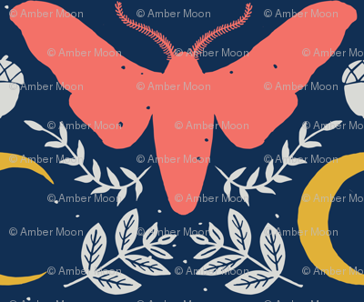 Large Moth and Moon-Blush