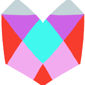 Geometric Heart: White