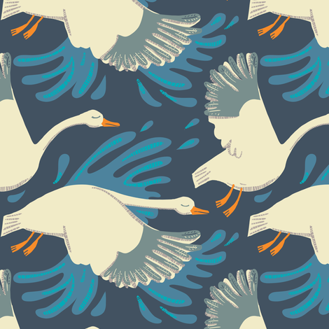 migration_2 in ink fabric by kheckart on Spoonflower - custom fabric