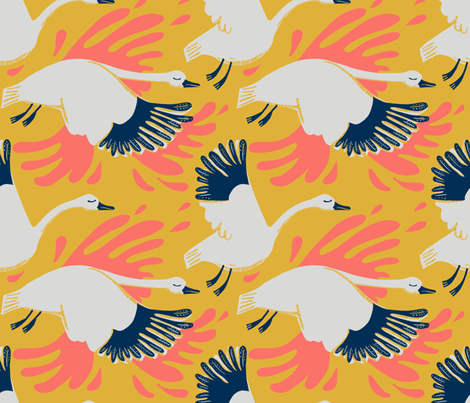 migration_limited palette fabric by kheckart on Spoonflower - custom fabric