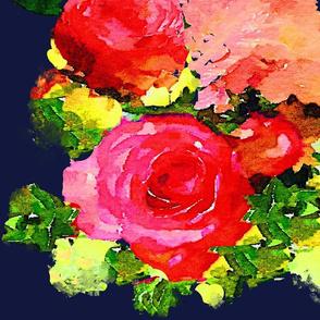 Watercolor Floral Bouquet //  Chrystie