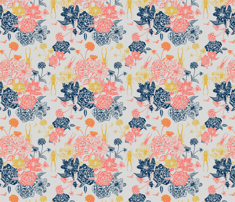 Coral Limited Palette_Artboard 3 fabric by maggie_lam_surface_design on Spoonflower - custom fabric