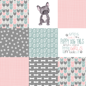 Puppy Tails//Girls - Wholecloth Cheater Quilt