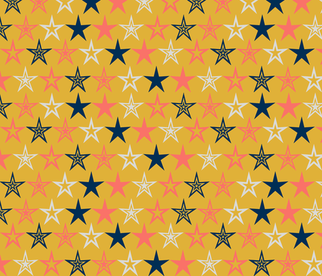 Coral Winner Winner Chicken Dinner fabric by xxgingerxx on Spoonflower - custom fabric