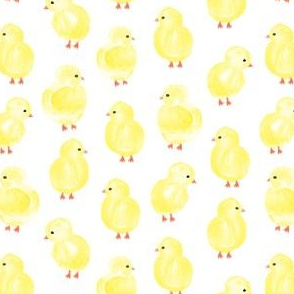 watercolor chicks -  spring easter - LAD19