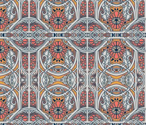 Nouveau a Grow Grow fabric by edsel2084 on Spoonflower - custom fabric