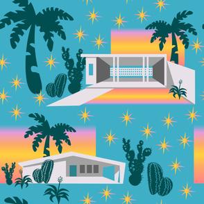 Desert Sunset Architecture