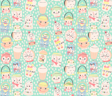 Cookie Jar fabric by heidikenney on Spoonflower - custom fabric