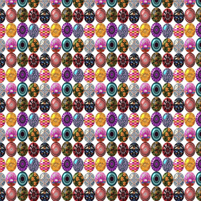 Easter eggs in a row 4x4