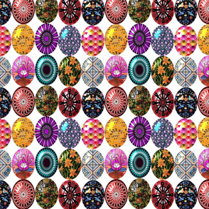 Easter eggs in a row 8x8