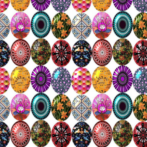 Easter eggs in a row 10x10