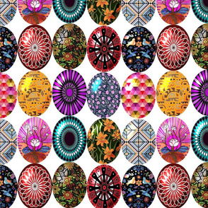 Easter eggs in a row 12x12