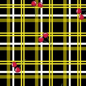 cherry toss tartan - yellow large