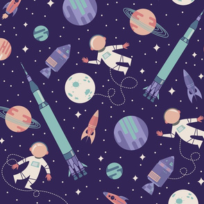 Lunar Landing - Purple